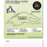 Aperçu du plan du circuit Bugatti des 24h du Mans Roller à imprimer