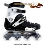 Roller Freeskate pour la pratique duFreestyle et du slalom, ici un SEBA