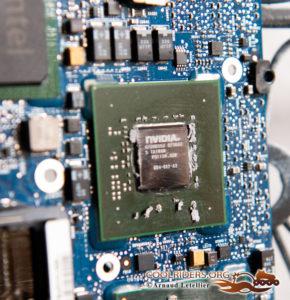 Geforce 8600m GT Nvidia : le vice caché intégré