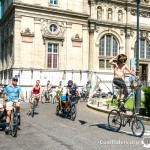 Tall Bike de voyage de Nico à la Véloparade du Cyclocamp 2012 de Grenoble