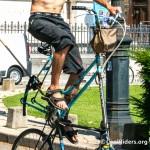 Tall Bike de Voyage de Nico, cadre supérieur