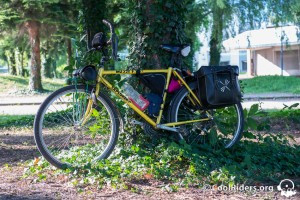 Vélo de voyage en acier Tange, base muddy fox explorer 1988, Grenoble
